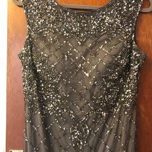 David's Bridal Sparkle Gown